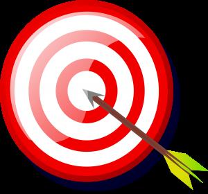 target audience target and arrow