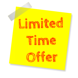limited time offer sign